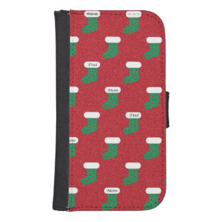 Sparkly Christmas Stockings Phone Wallet