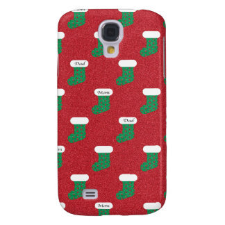 Sparkly Christmas Stockings Samsung Galaxy S4 Case