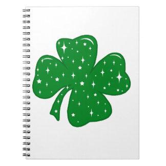 Sparkly Clover Notebook