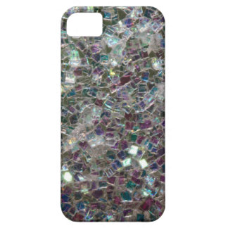 Sparkly colourful silver mosaic iPhone 5 covers
