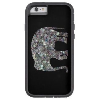Sparkly colourful silver mosaic Elephant iPhone 6 Case