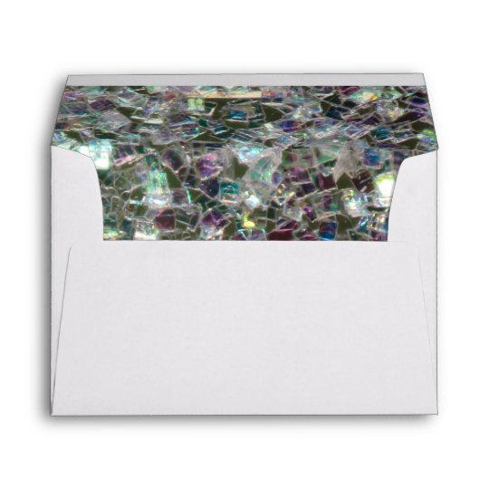 Sparkly colourful silver mosaic envelope