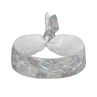 Sparkly colourful silver mosaic hair tie