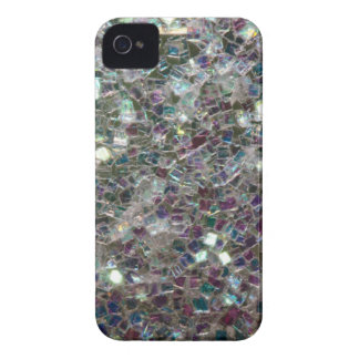 Sparkly colourful silver mosaic iPhone 4 Case-Mate case