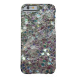 Sparkly colourful silver mosaic iPhone 6 case
