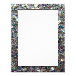 Sparkly colourful silver mosaic letterhead