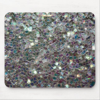 Sparkly colourful silver mosaic mouse pad