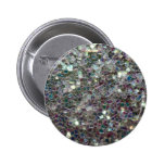 Sparkly colourful silver mosaic pins