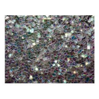 Sparkly colourful silver mosaic post card