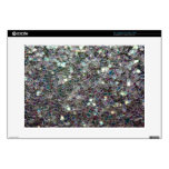 "Sparkly colourful silver mosaic skin for 15"" laptop"