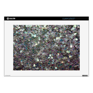 """Sparkly colourful silver mosaic skin for 15"""" laptop"""