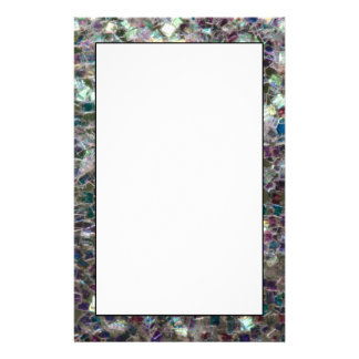 Sparkly colourful silver mosaic stationery