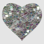 Sparkly colourful silver mosaic stickers