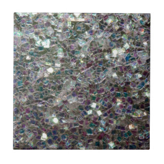 Sparkly colourful silver mosaic ceramic tiles