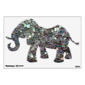 Sparkly colourful silver mosaic wall decal