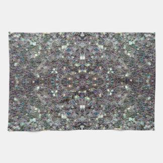 Sparkly colourful silver v4 - Mandala Towel