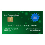 Sparkly Credit Card Green Business Card