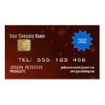 Sparkly Credit Card Maroon Business Card