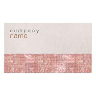 Sparkly Cute Pink Sequins Business Card
