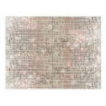 Sparkly Faux Silver Sequin Postcard