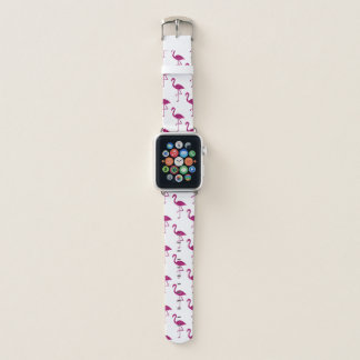 Sparkly flamingo Pink glitter sparkles pattern Apple Watch Band