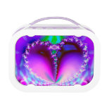 Sparkly fractal heart lunch box