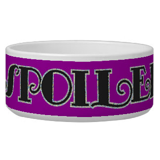 Sparkly Glam Spoiled Text Dog Food Bowl