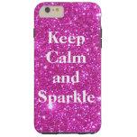 Sparkly Glittery Glitter Pink Glam CricketDiane Tough iPhone 6 Plus Case