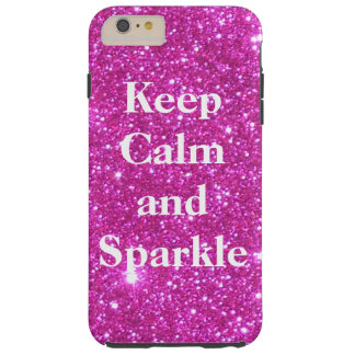 Sparkly Glittery Glitter Pink Glam CricketDiane Tough iPhone 6 Plus Case