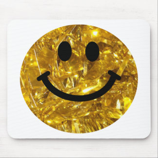 Sparkly Gold Bling Smiley Mousepad