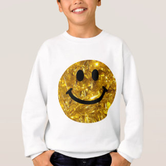 Sparkly Gold Bling Smiley Sweatshirt