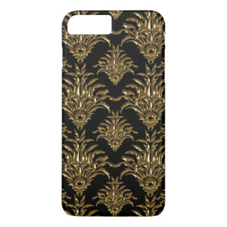 Sparkly Gold Gemstone Damask Pattern Phone Case