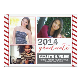 Sparkly Graduation Announcement (red)