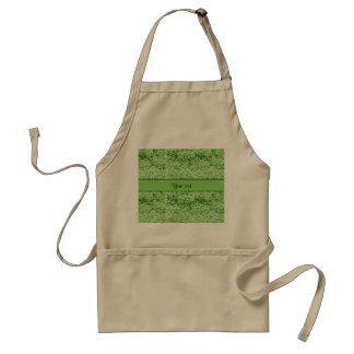 Sparkly Green Glitter Adult Apron
