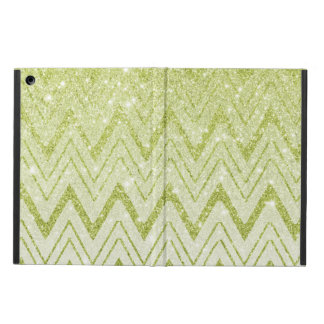 Sparkly Green Glitter Chevron Pattern Cover For iPad Air