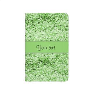 Sparkly Green Glitter Journal