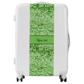 Sparkly Green Glitter Luggage