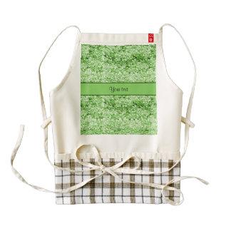 Sparkly Green Glitter Zazzle HEART Apron
