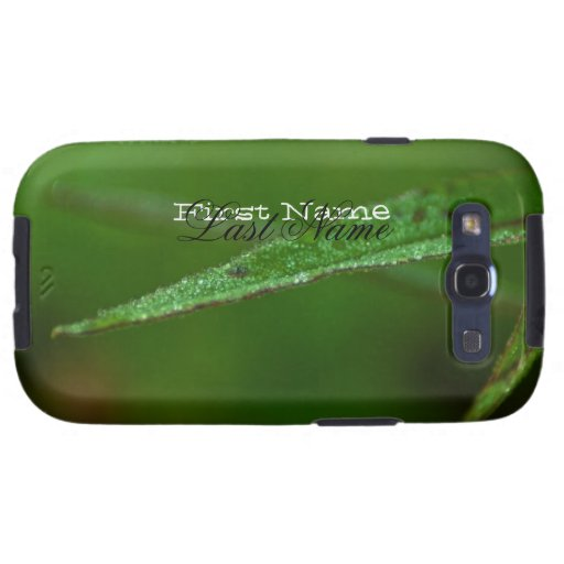 Sparkly Green Leaves; Customizable Galaxy SIII Covers