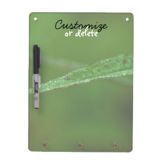 Sparkly Green Leaves; Customizable Dry-Erase Board