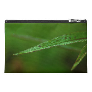 Sparkly Green Leaves; No Text Travel Accessory Bag
