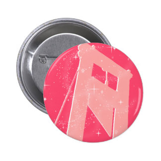 sparkly guillotine pinback button