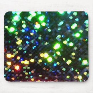 Sparkly Holiday Lights Colorful Fun Office Gifts Mouse Pad