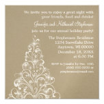 Sparkly Holiday Tree Invite, Latte Card