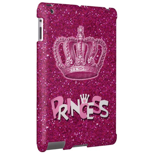 Sparkly Hot Pink Princess Glitter & Vintage Crown