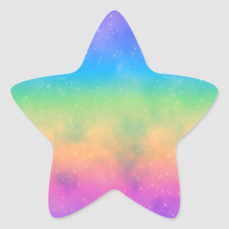 Sparkly Hot Rainbow Sky Sticker