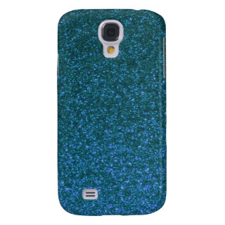 Sparkly iPhone Cases (blue) Samsung Galaxy S4 Covers