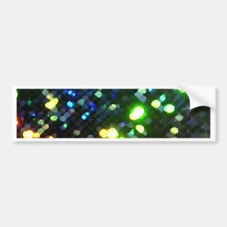 Sparkly Lights Colorful and Fun Bumper Sticker