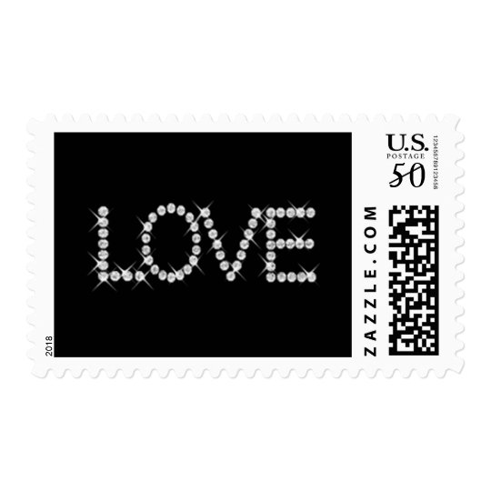 Sparkly Love on Any Color Postage