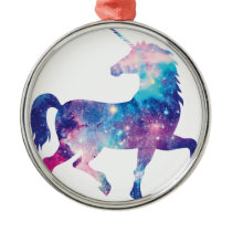 Sparkly Magical Unicorn Metal Ornament